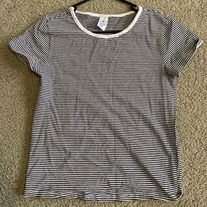 black and white stripe top from target